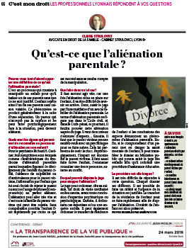 Article aliénation parentale