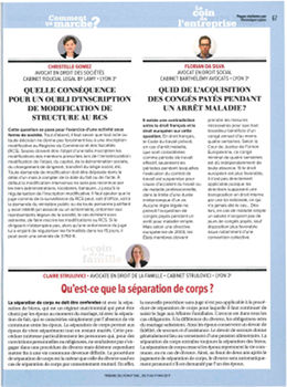 Article séparation de corps